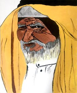 Old arabic man