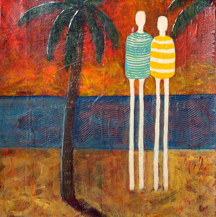Tropical Date - Joyful Art by Sue Robertson