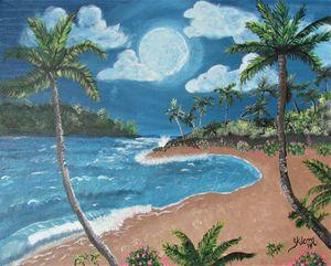 Moonlit Island Beach