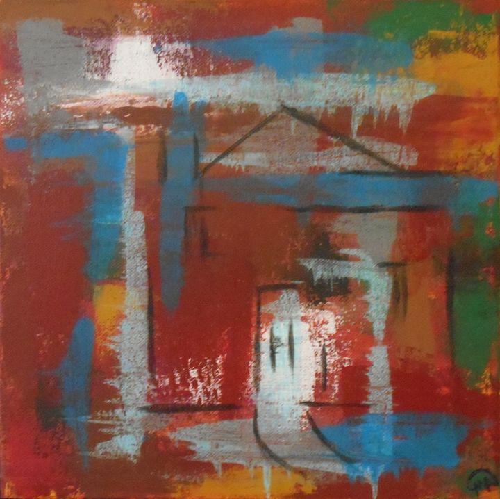 Abstract House - Memphis Original Art