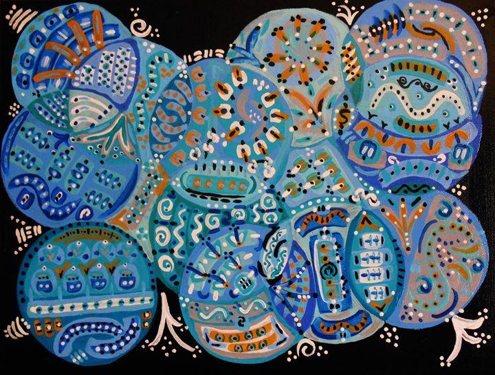 Abstract Blue - Memphis Original Art