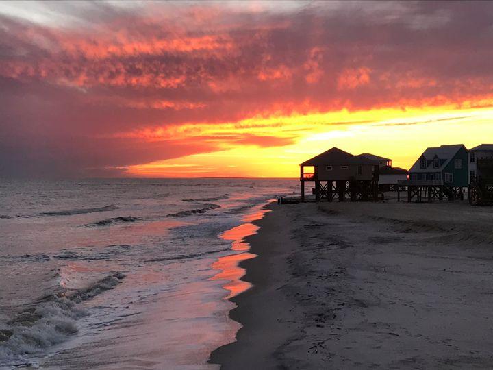 Dauphin Island, Alabama Sunset - Memphis Original Art