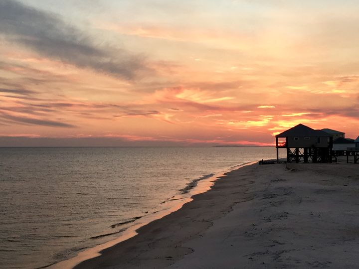 Dauphin Island, Alabama Sunset II - Memphis Original Art