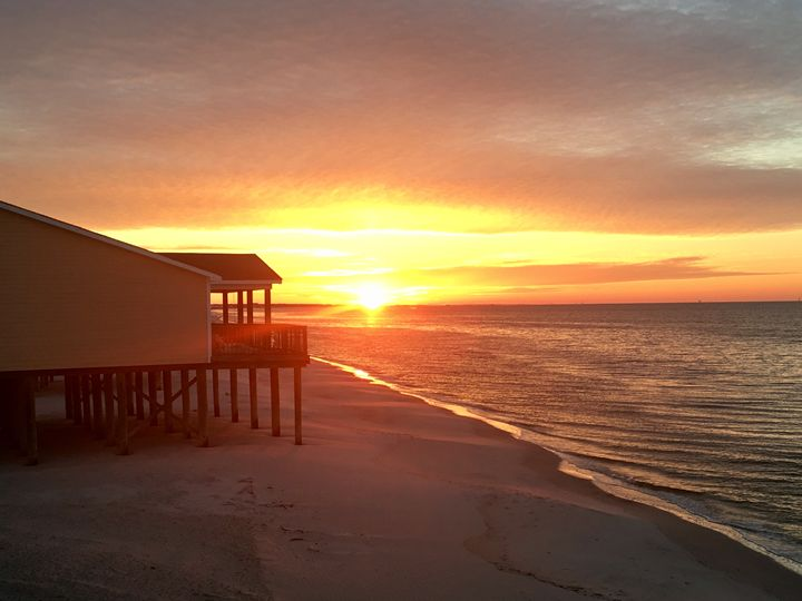 Dauphin Island Sunrise - Memphis Original Art