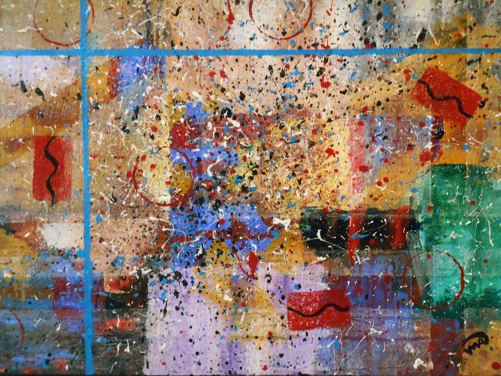 Blue Lines - Memphis Original Art