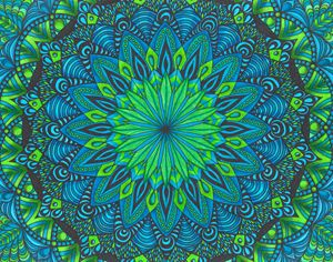 Green & Blue Mandala
