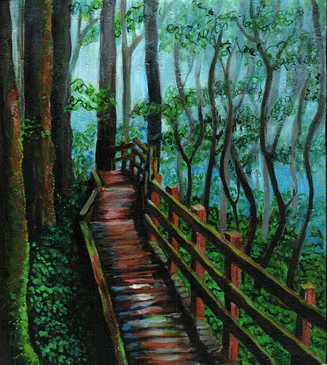 Forest Walkway - Helen Simmons Art
