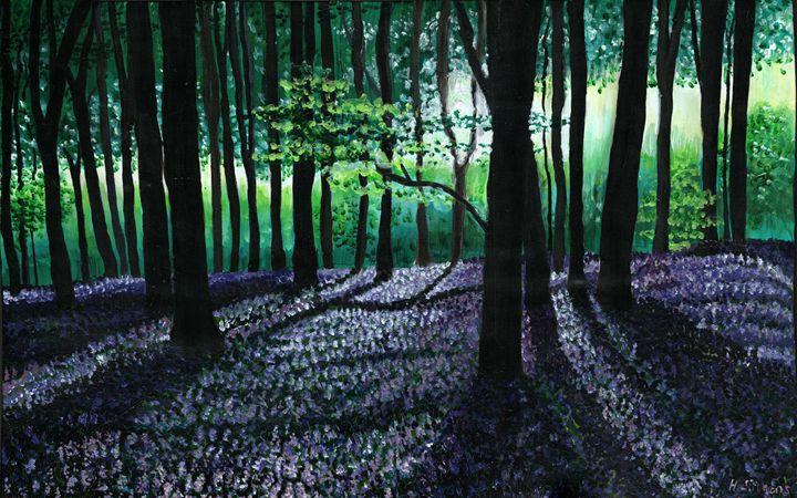 Purple Forest - Helen Simmons Art