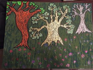 Trees in the forest (SOLD)