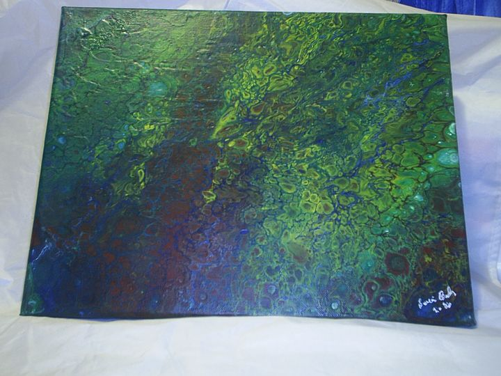 M4034S-4211 Original Abstract 11x14 - two old guys distributing co