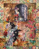 Original Silk Painting with Batik