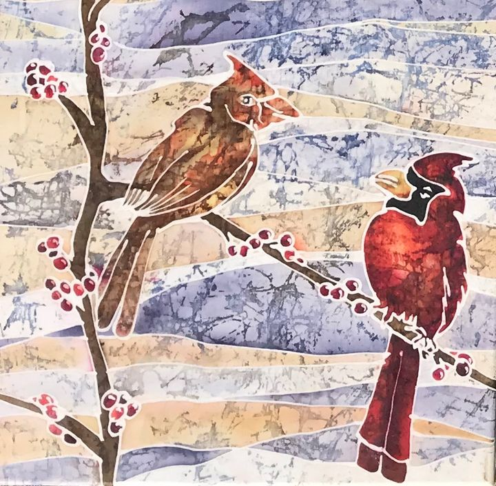 Cardinals in Winter - LKMArtist