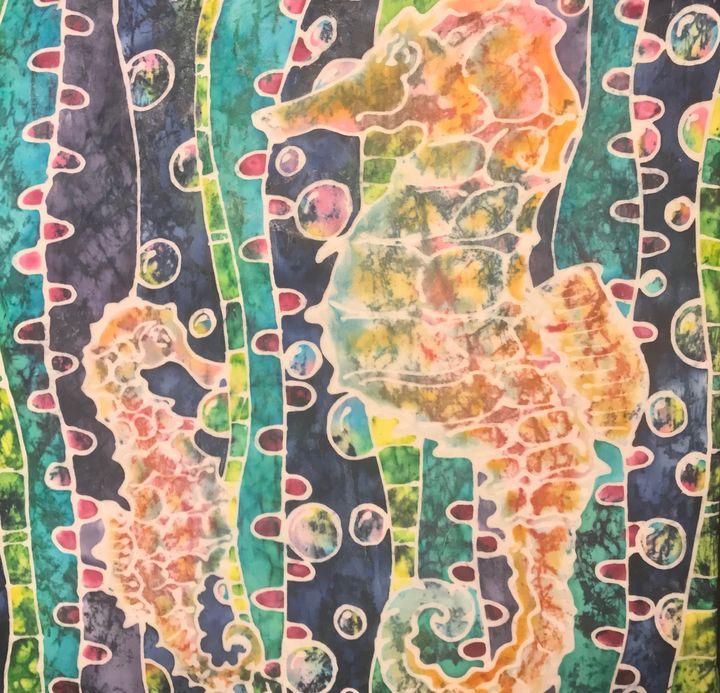 Glassine Seahorses - LKMArtist