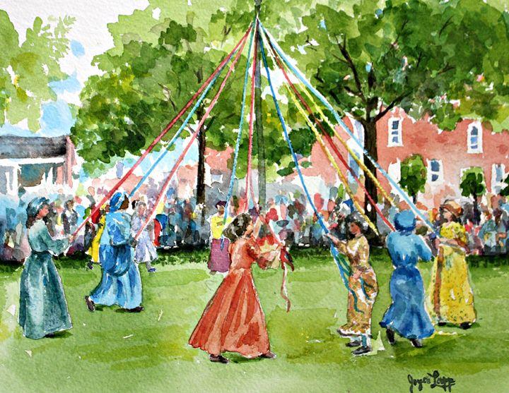 Maypole at Old Dover Days - Joyce Lapp