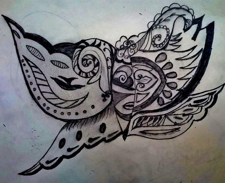 butterfly design - firebird paintings