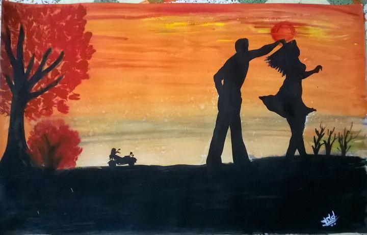 Sunset dance - firebird paintings