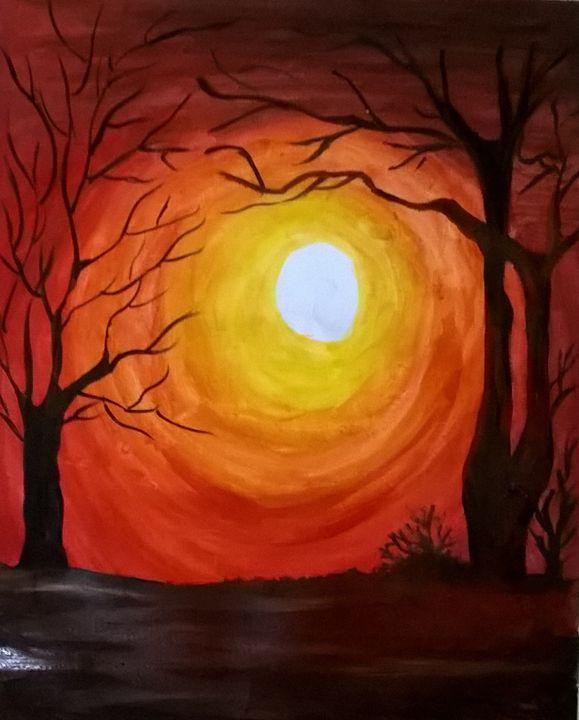 night - firebird paintings