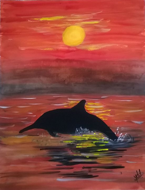 dolphin - firebird paintings