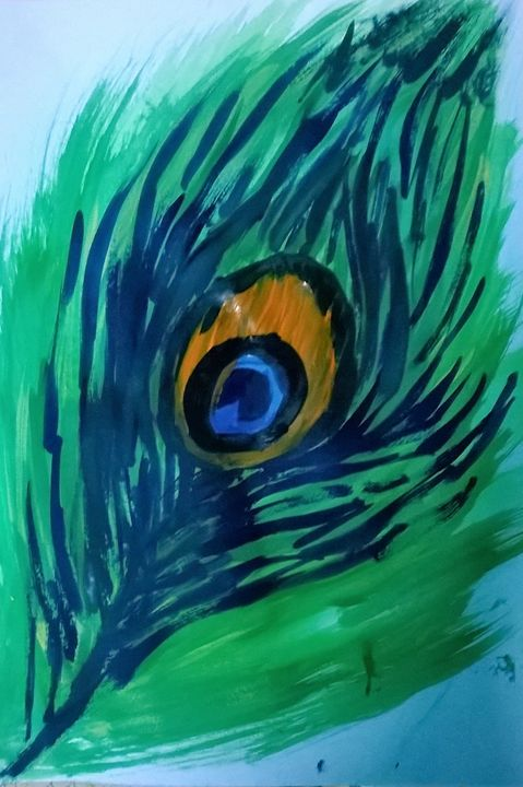 peacock feather - firebird paintings