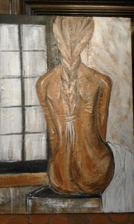Femme à la fenêtre - Odalix