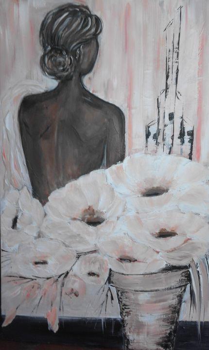 Femme fleurs - Odalix