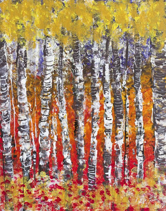 Abstract birches - toothteri