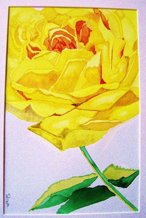 Yellow Flower - Frank Sliwa's Watercolors