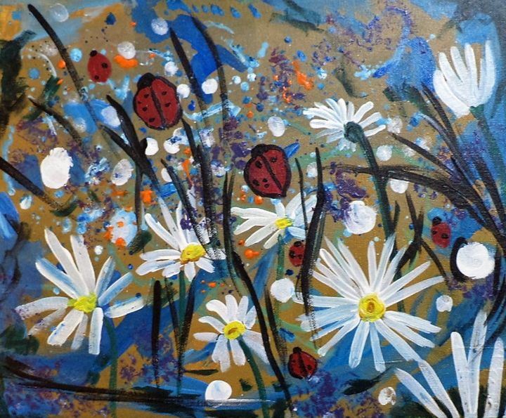 Daisies and ladybugs - Tara Stephanos Originals
