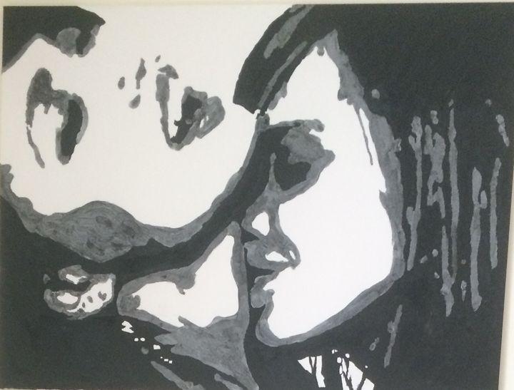 LESBIANS KISSING $180 36x48 - Acrylic Portfolio