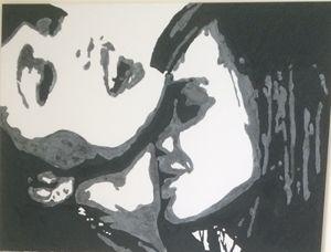 LESBIANS KISSING $180 36x48