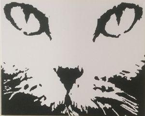 CAT FACE $40 16x20