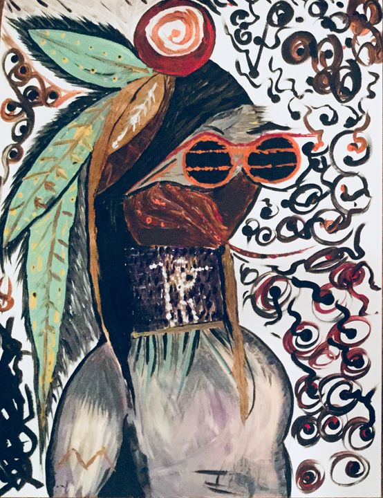 Urban Native Fashion & Tradition - Actor Sparrowhawk Art