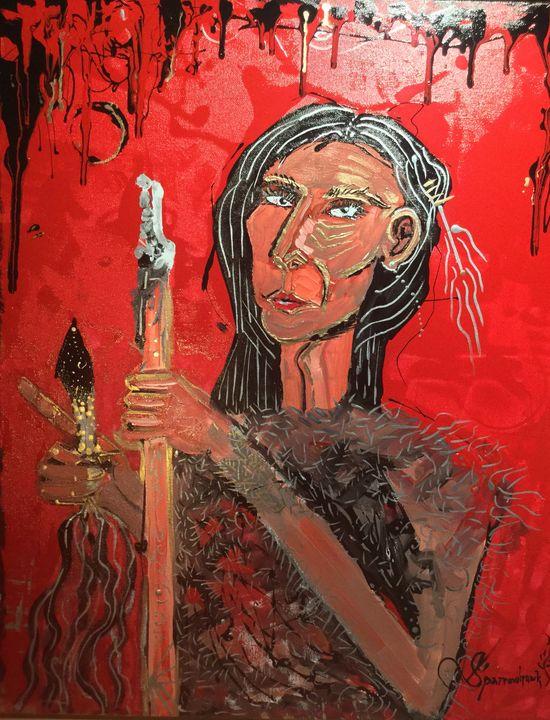 Ancestral Icon: ßįkúwæńøk - Actor Sparrowhawk Art