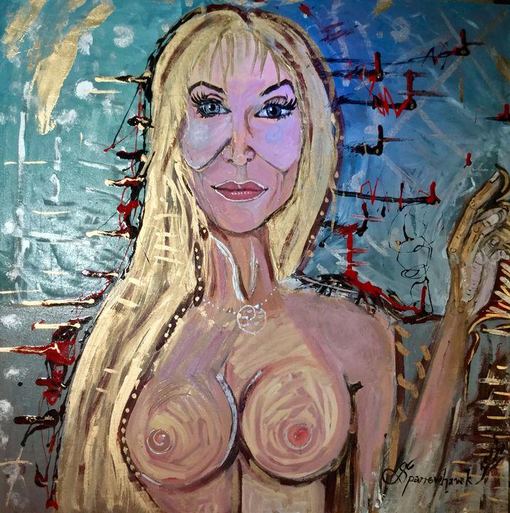 Transcendental Lady Icon - Actor Sparrowhawk Art