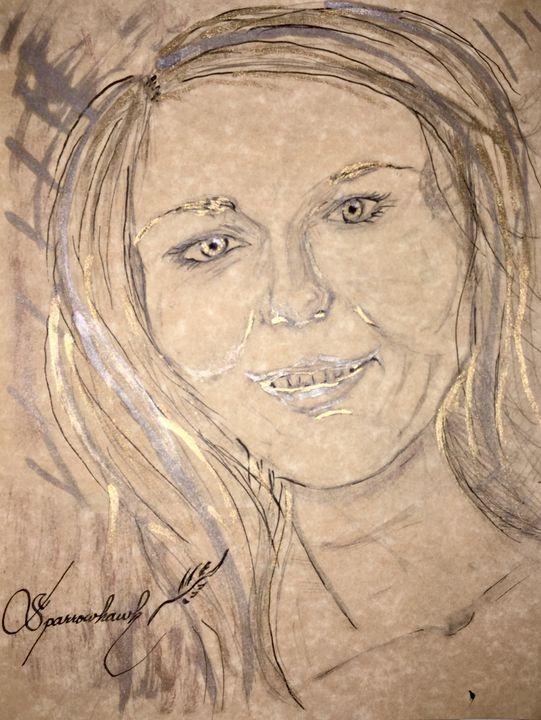 dāmas Rūtas zīmējums - Actor Sparrowhawk Art