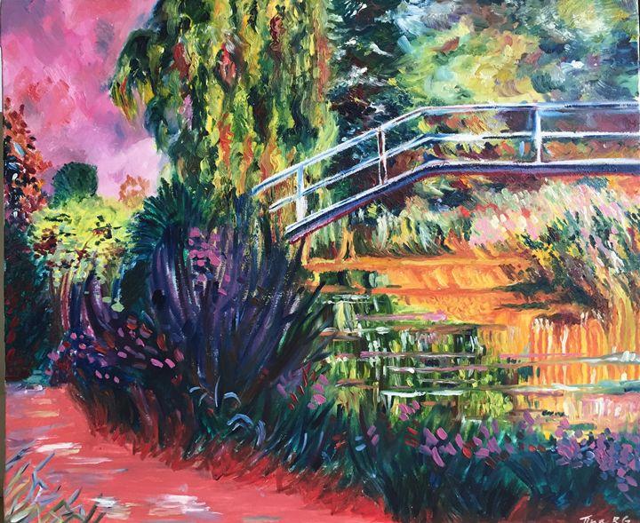 Japanese Bridge- An Interpretation - Painter's Corner