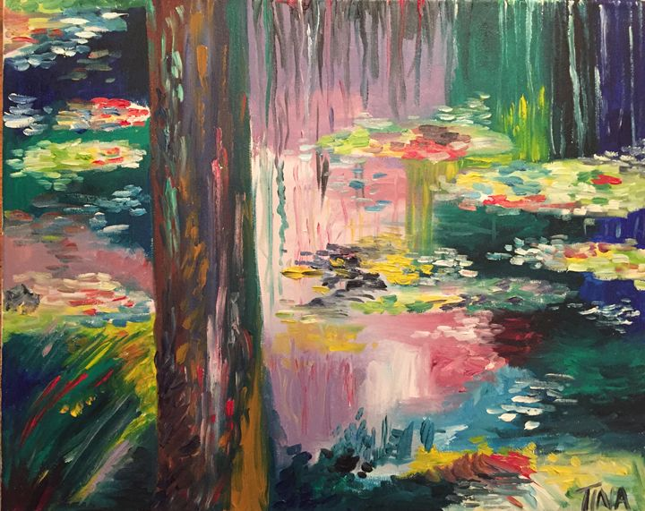 Lilies in a pond. - Painter's Corner