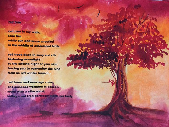 Red Tree - Painter's Corner