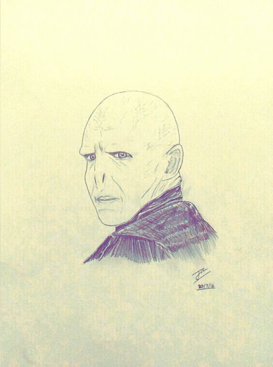 Voldemort drawing - Sajjan's hopefully not so mediocre art