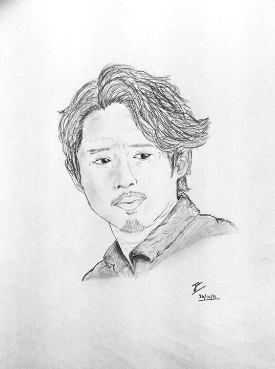 Glenn Rhee drawing - Sajjan's hopefully not so mediocre art
