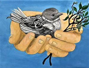 A Bird in the Hand - Janets Art