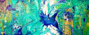 Fluid Art Bird in Flight - Janets Art