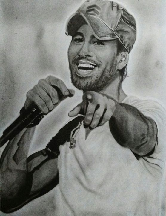 Portrait of Enrique Iglesias - My Pencil Art