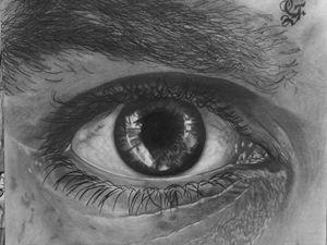 Eye pencil drawing