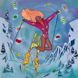 Barbie skiing