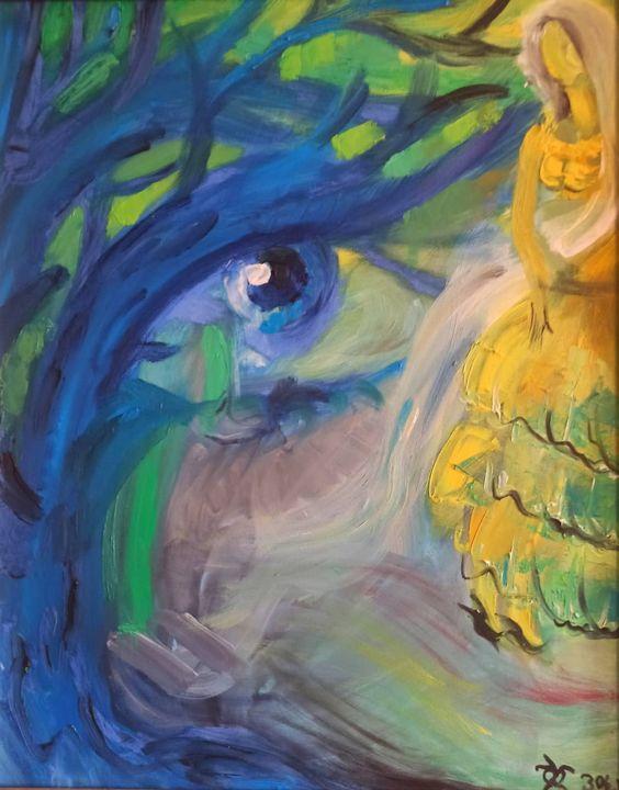 Bride in blue space - Lili Khorava