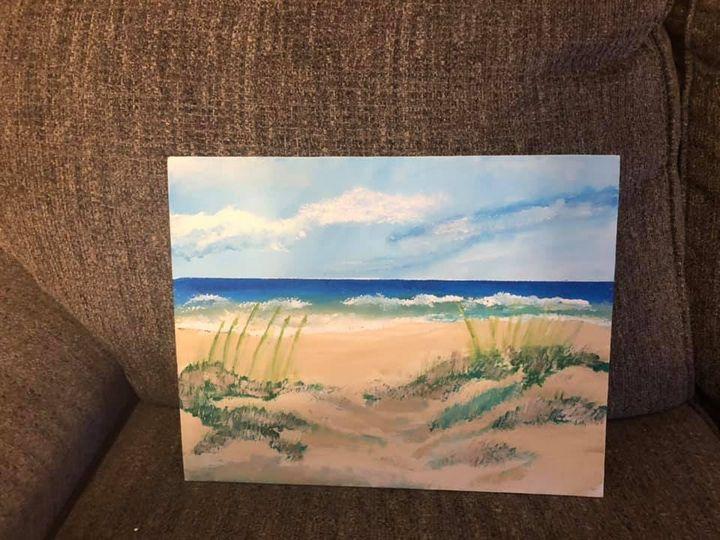 Beach scene - Ron's paintings