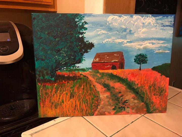 Rustic scene - Ron's paintings