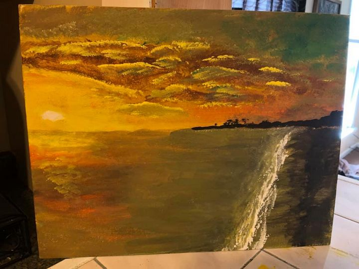 Sunset - Ron's paintings