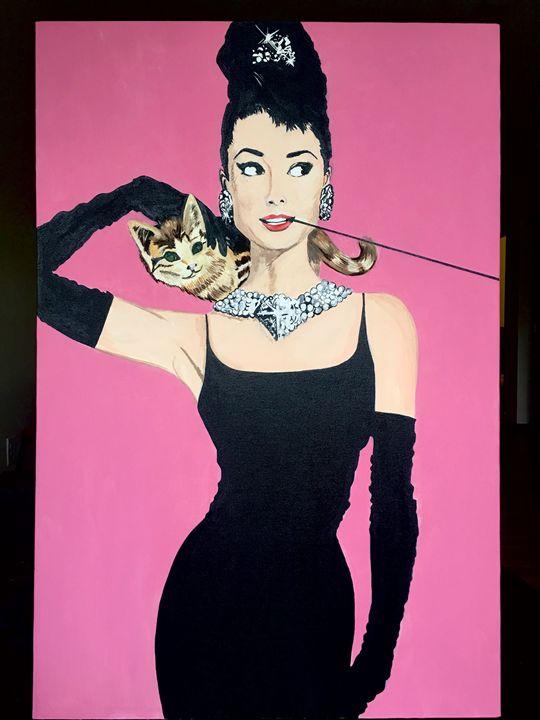 Original Audrey Hepburn painting wit - Anya Shogren